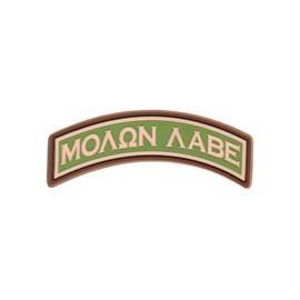 Molon Labe Tab Rubber Patch Multicam