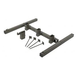 Foldable Metal Stand - Steel - Brown Grey