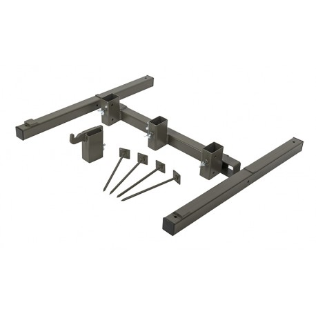 Foldable Metal Stand - Steel - Brown Grey