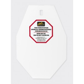 SRT Small ALPHA Target - Hardox 600 Steel - White