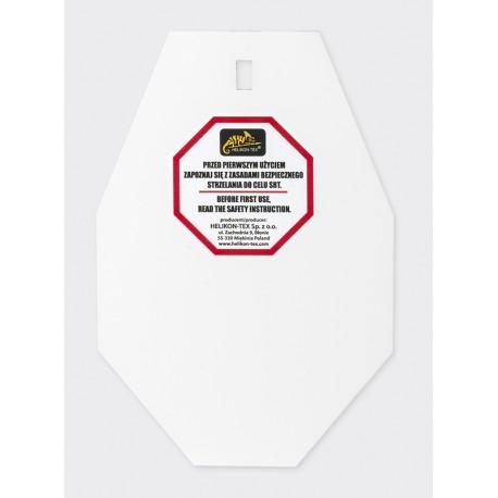SRT Small ALPHA Target - Hardox 600 Steel - White