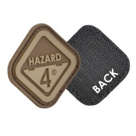 Morale Patch Diamond Shaped Velcro Hazard 4 Logo coyote