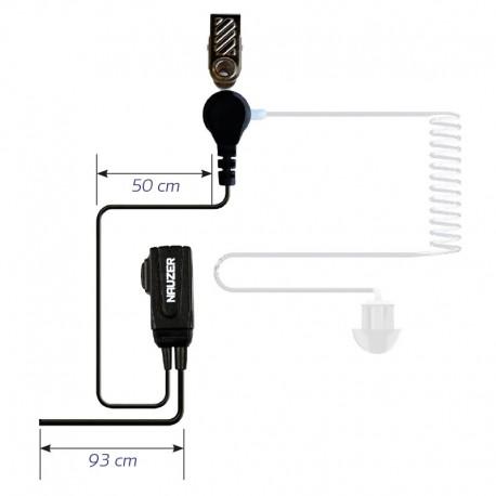 Micro-Auricular Tubular para MATRA EADS JUPITER TPH