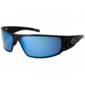 Gatorz MAGNUM POLARIZED Black / Smoked w/ Blue Mirror Polarized