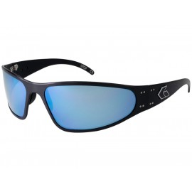 Gatorz WRAPTOR POLARIZED Black / Smoked Polarized w/ Blue Mirror