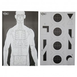 VTAC Double Sided Target (Pack de 50)
