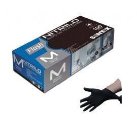 Caja Guantes desechables Nitrilo Negro 6.5Gr 100 uds