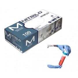 Caja Guantes desechables Nitrilo Azul 4.5Gr 100 uds