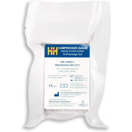 H&H Flat Compressed Gauze