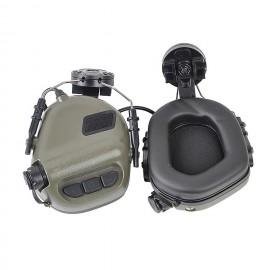 Earmor M31H Hearing Protection Ear-Muff Helmet Version - Ranger Green