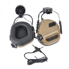 Earmor M31H Hearing Protection Ear-Muff Helmet Version - Coyote Tan