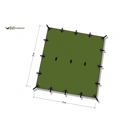 DD Hammocks Tarp 3x3 Toldo cuadrado
