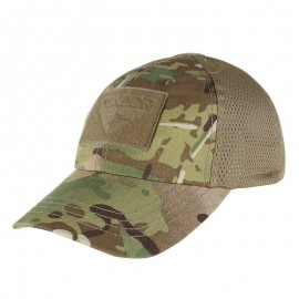 CONDOR MESH TACTICAL CAP WITH MULTICAM BLACK