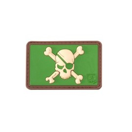 Pirate Skull Rubber Patch Multicam