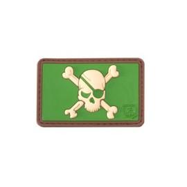 Pirate Skull Rubber Patch Multicam
