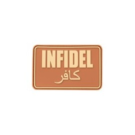 Infidel Large Rubber Patch Desert