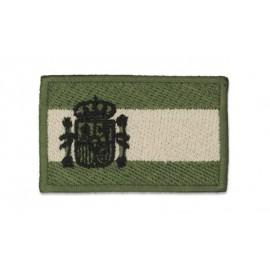Parche bandera de España 5.8x3.5 cm verde