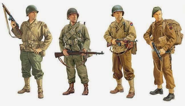 evolución del uniforme militar