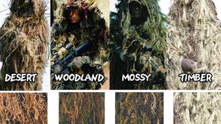 Equipamiento de camuflaje militar