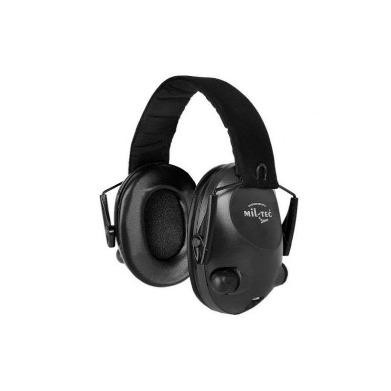 auriculares-electronicos-mil-tec-negros proteccion auditiva