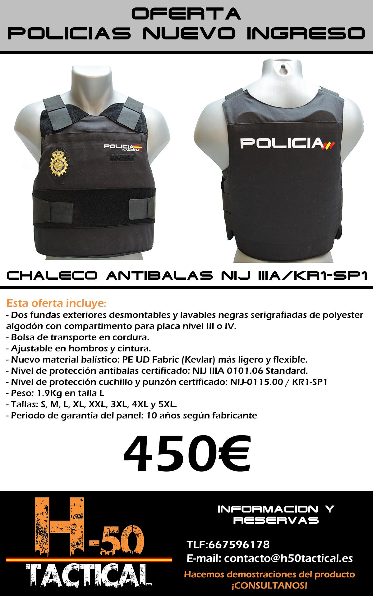 oferta chaleco antibalas