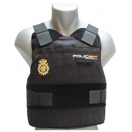 Material táctico policial: chalecos antibalas