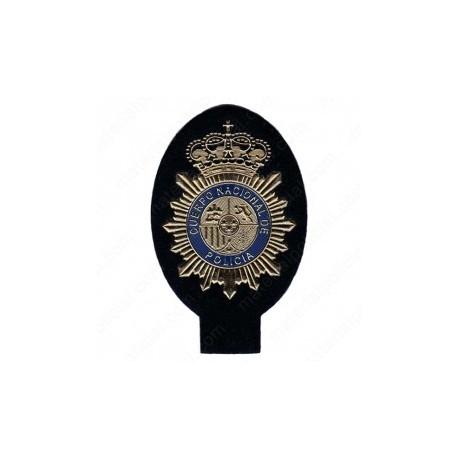 Parche de placa policia nacional